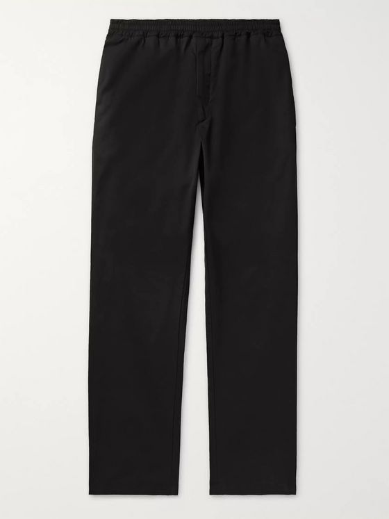The Row Josh Cotton-Poplin Drawstring Trousers