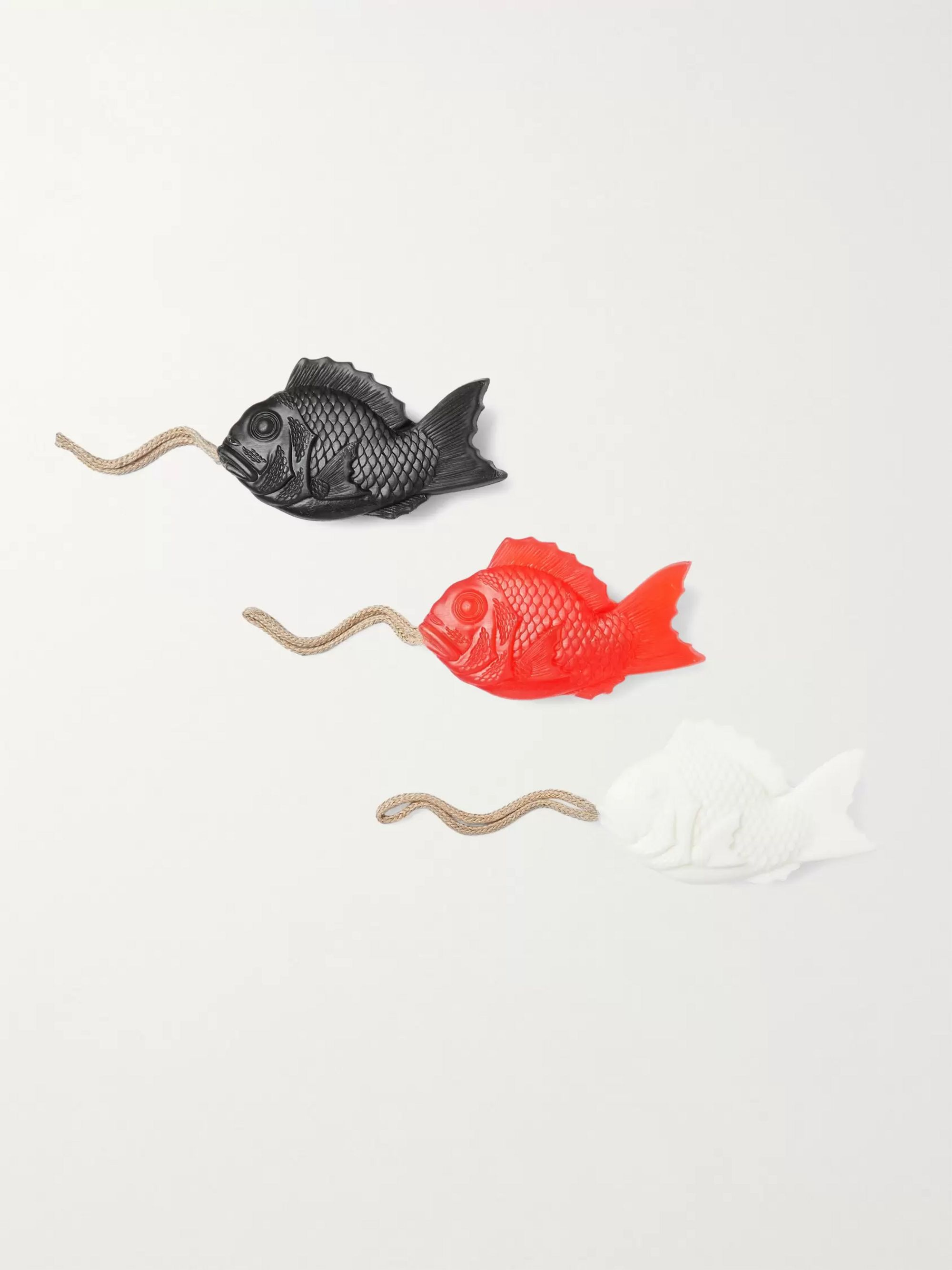 Japan Best Three-Pack Fish-Shaped Scented Soap, 345g
