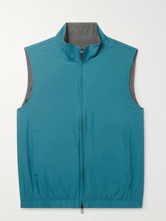 LORO PIANA Slim-Fit Reversible Storm System Shell and Super Wish Virgin Wool Gilet