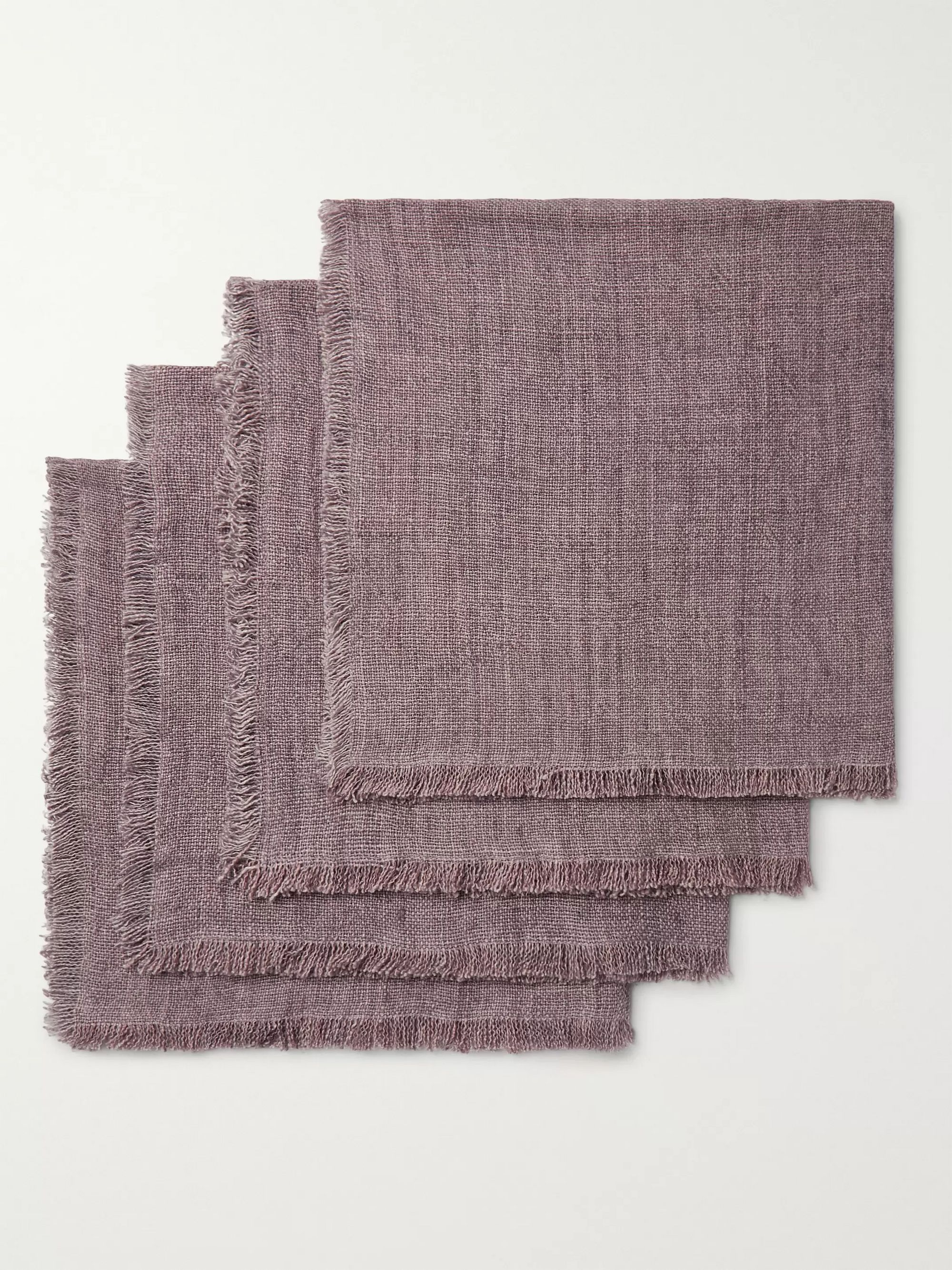 Roman & Williams Guild Four-Pack Linen Napkins