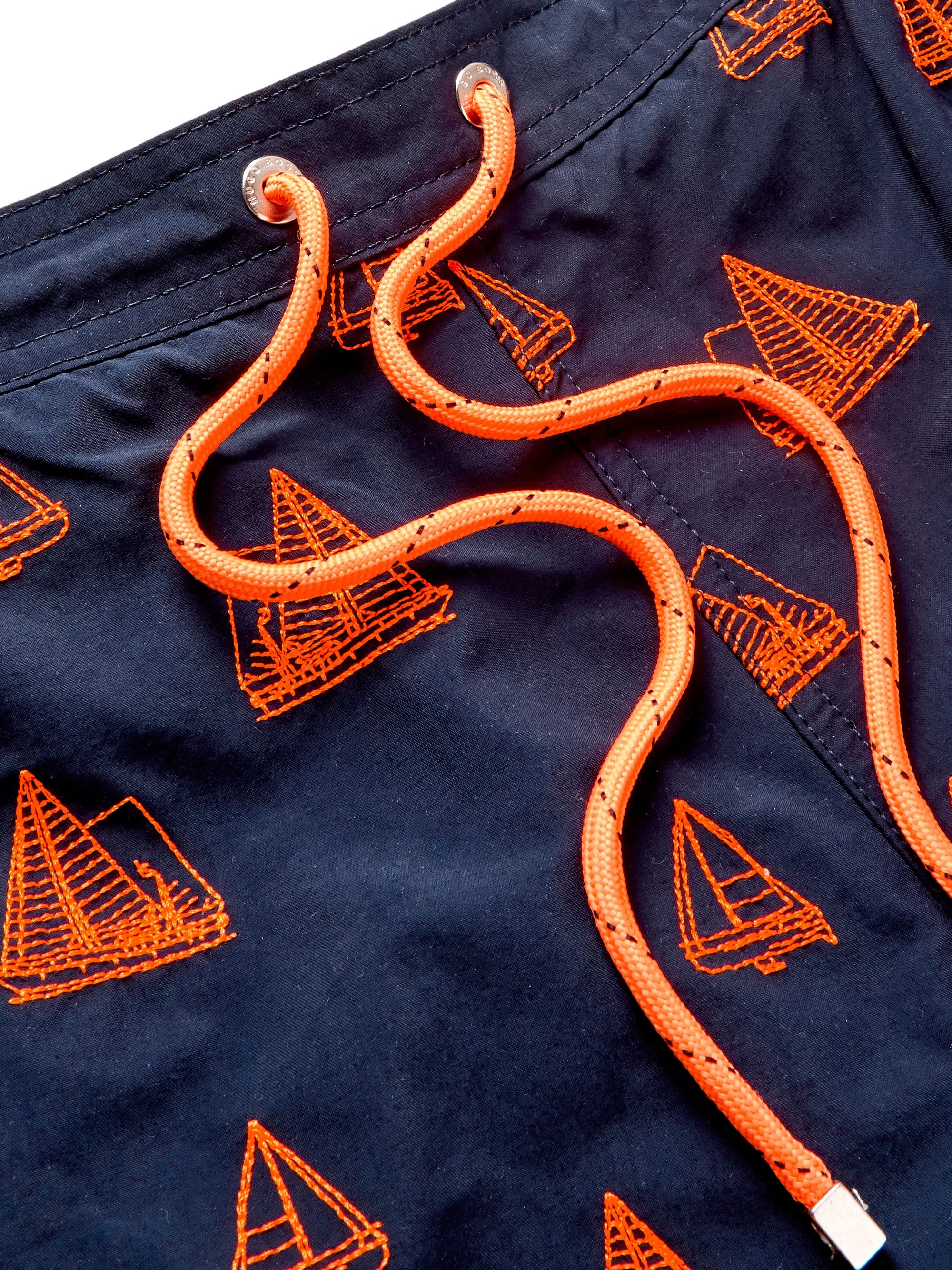 Hugo Boss Mid-Length Embroidered Swim Shorts