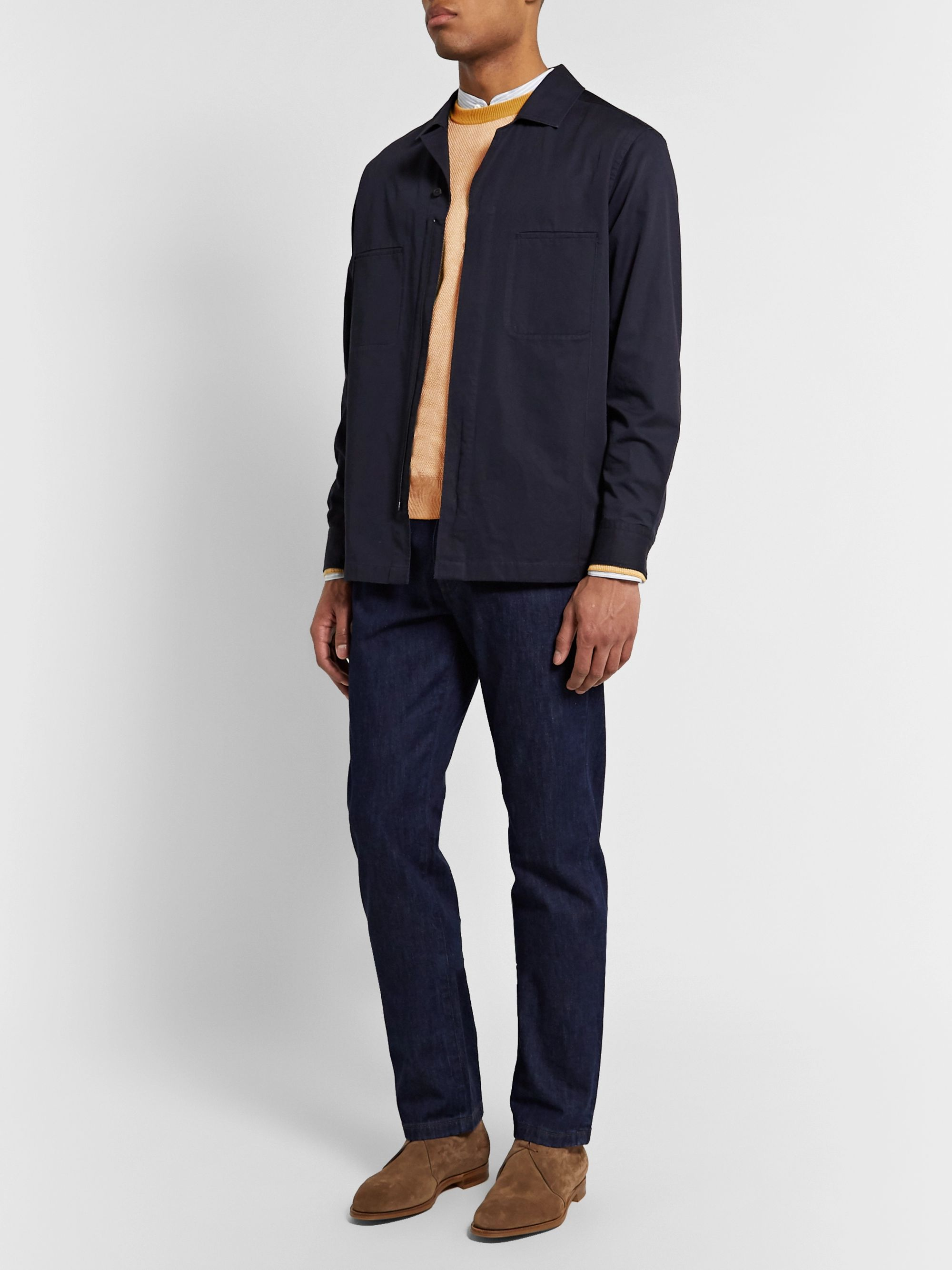 Yellow Slim-fit Silk And Linen-blend Sweater   Loro Piana