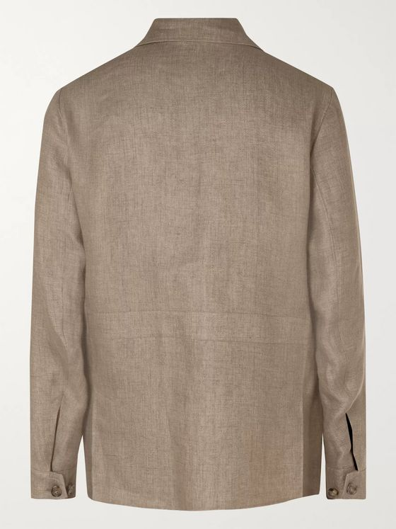 LORO PIANA Linen-Blend Field Jacket