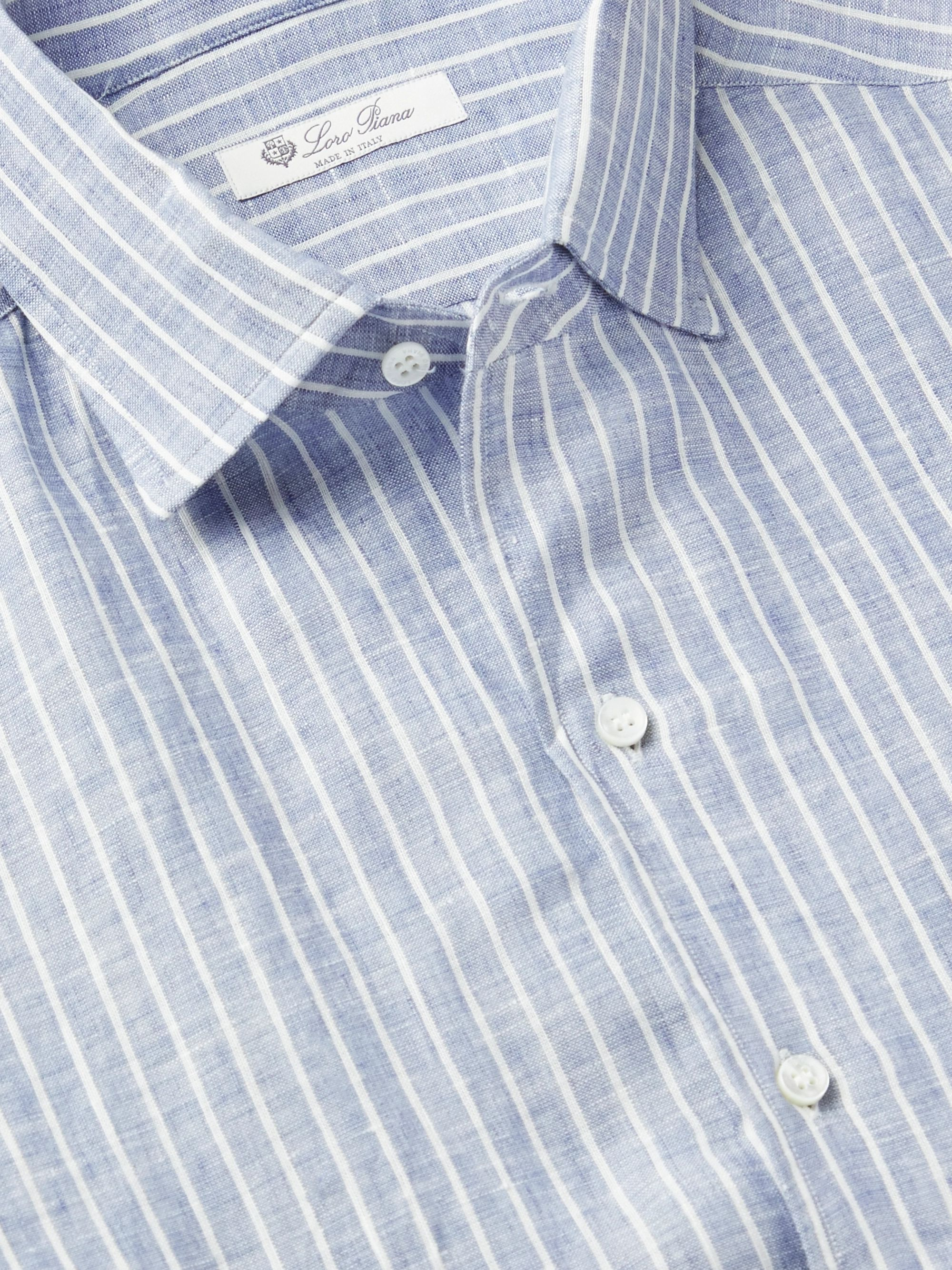 Loro Piana Striped Linen Shirt