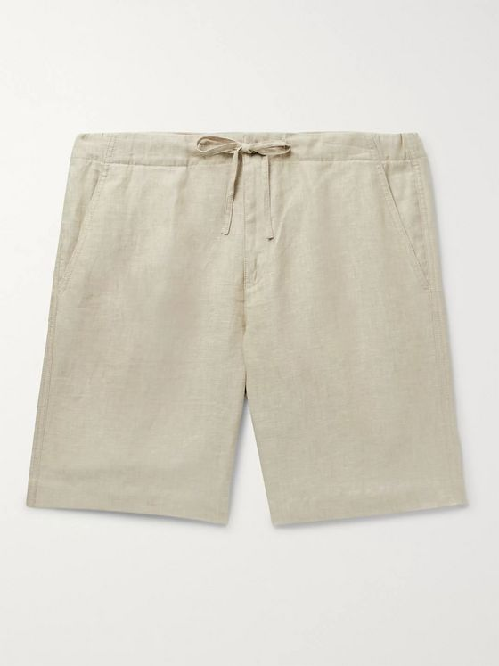 Loro Piana Slim-Fit Linen Drawstring Bermuda Shorts