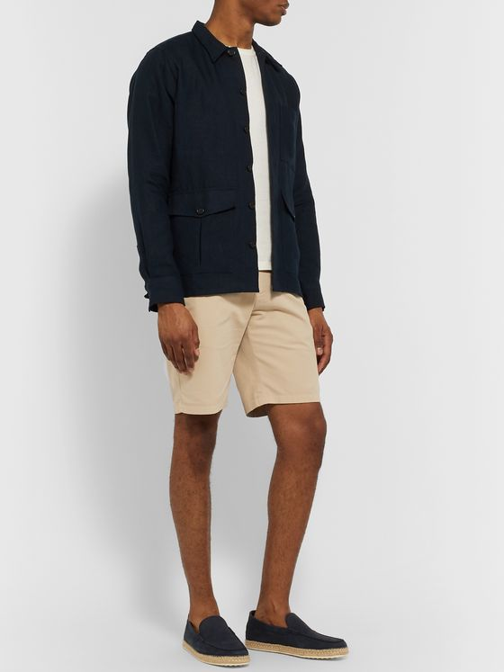 Loro Piana Slim-Fit Stretch-Cotton Shorts