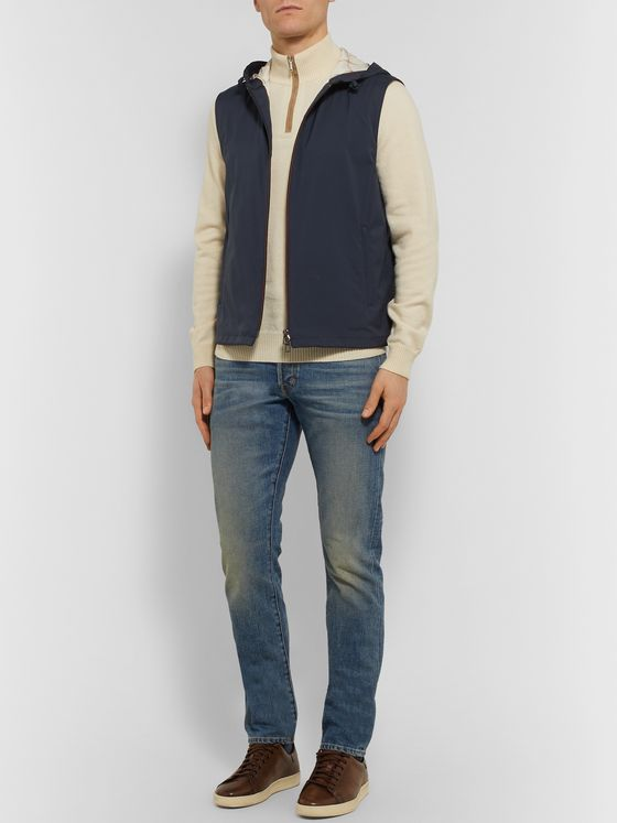 Loro Piana Rain System Shell Hooded Gilet