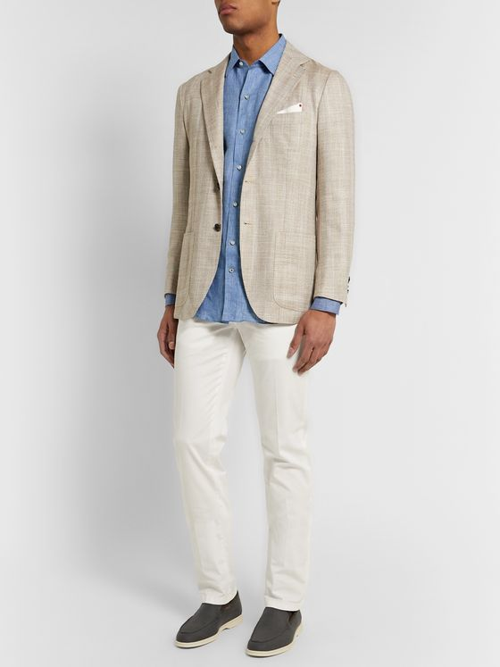 Loro Piana Pinstriped Linen Shirt