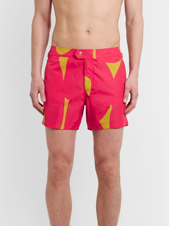 TOM FORD Slim-Fit Short-Length Printed Swim Shorts