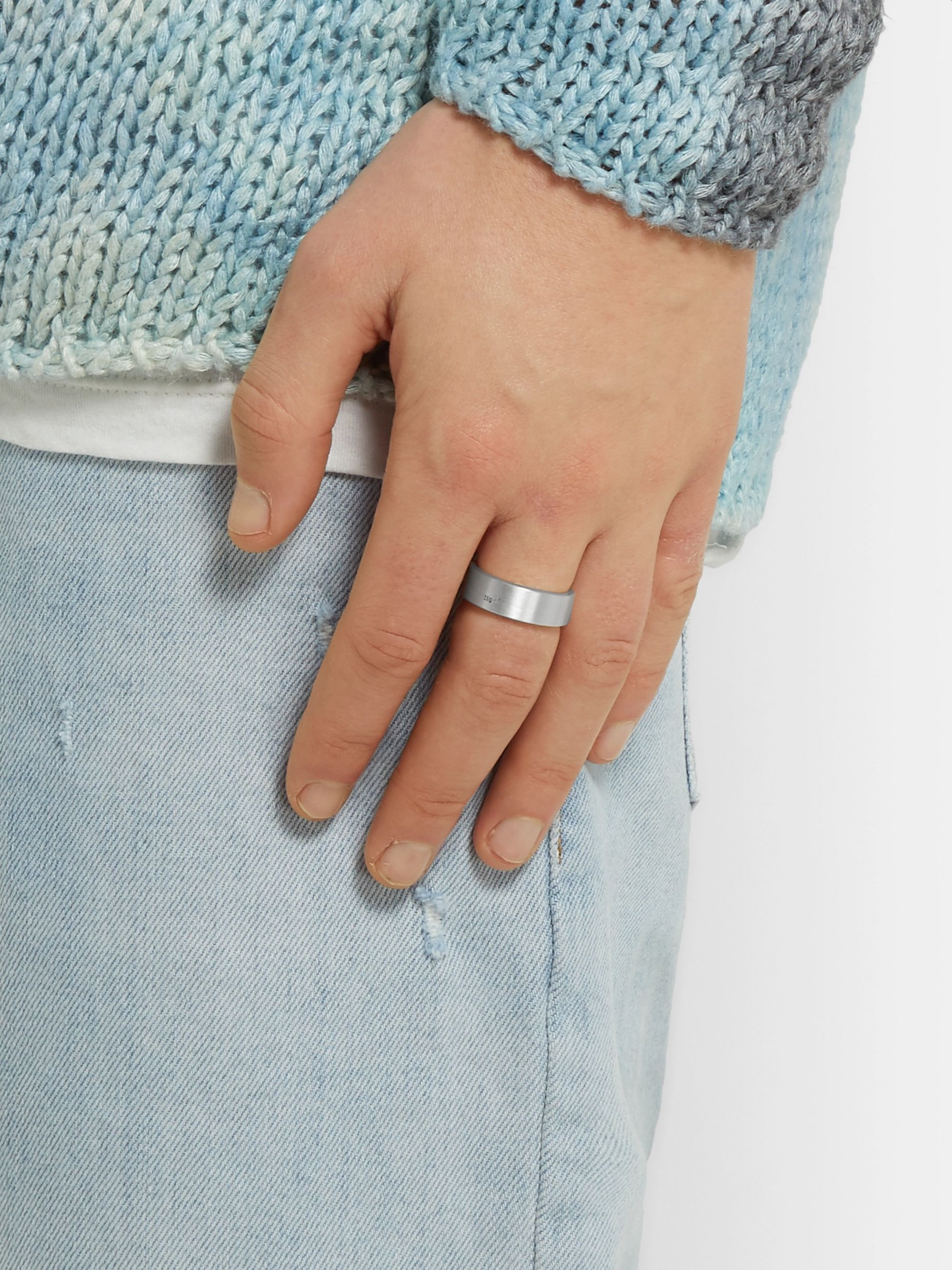 Le Gramme Le 11 Brushed Sterling Silver Ring