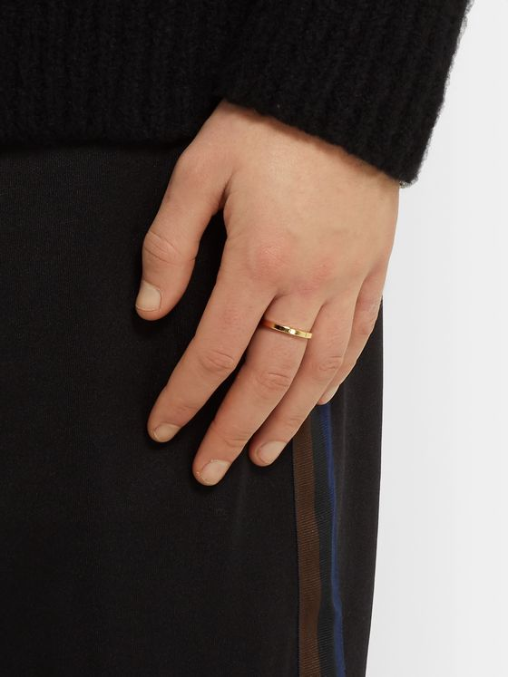 Le Gramme Le 5 Polished 18-Karat Gold Ring