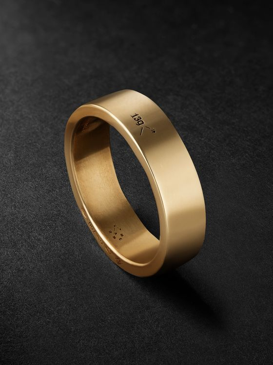Le Gramme Le 13 Slick Polished 18-Karat Gold Ring