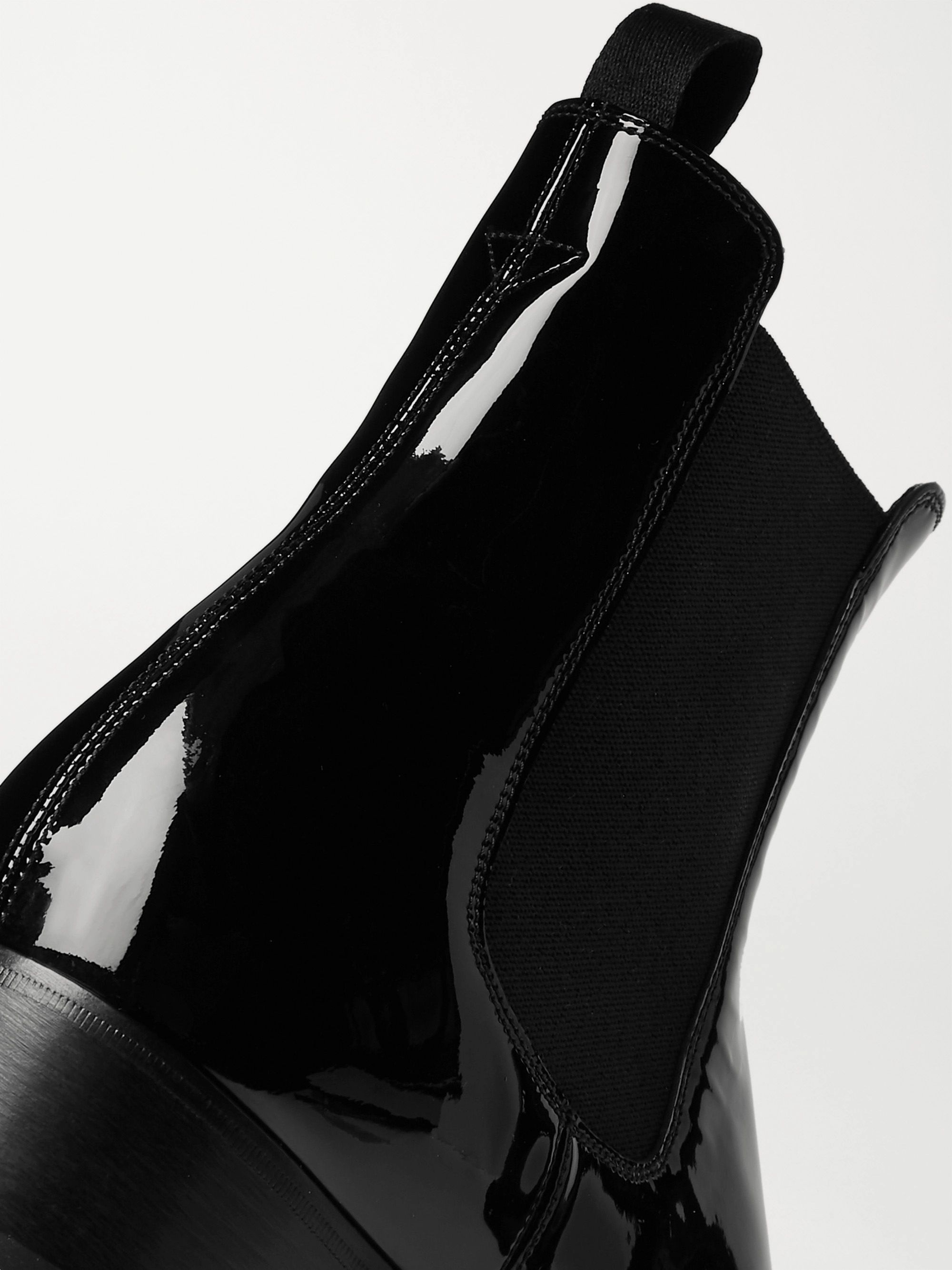TOM FORD Hainaut Patent-Leather Chelsea Boots