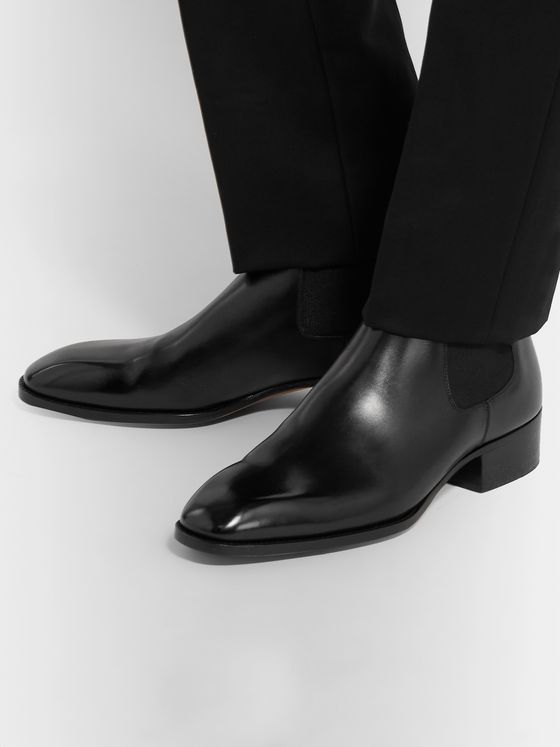 TOM FORD Hainaut Polished-Leather Chelsea Boots