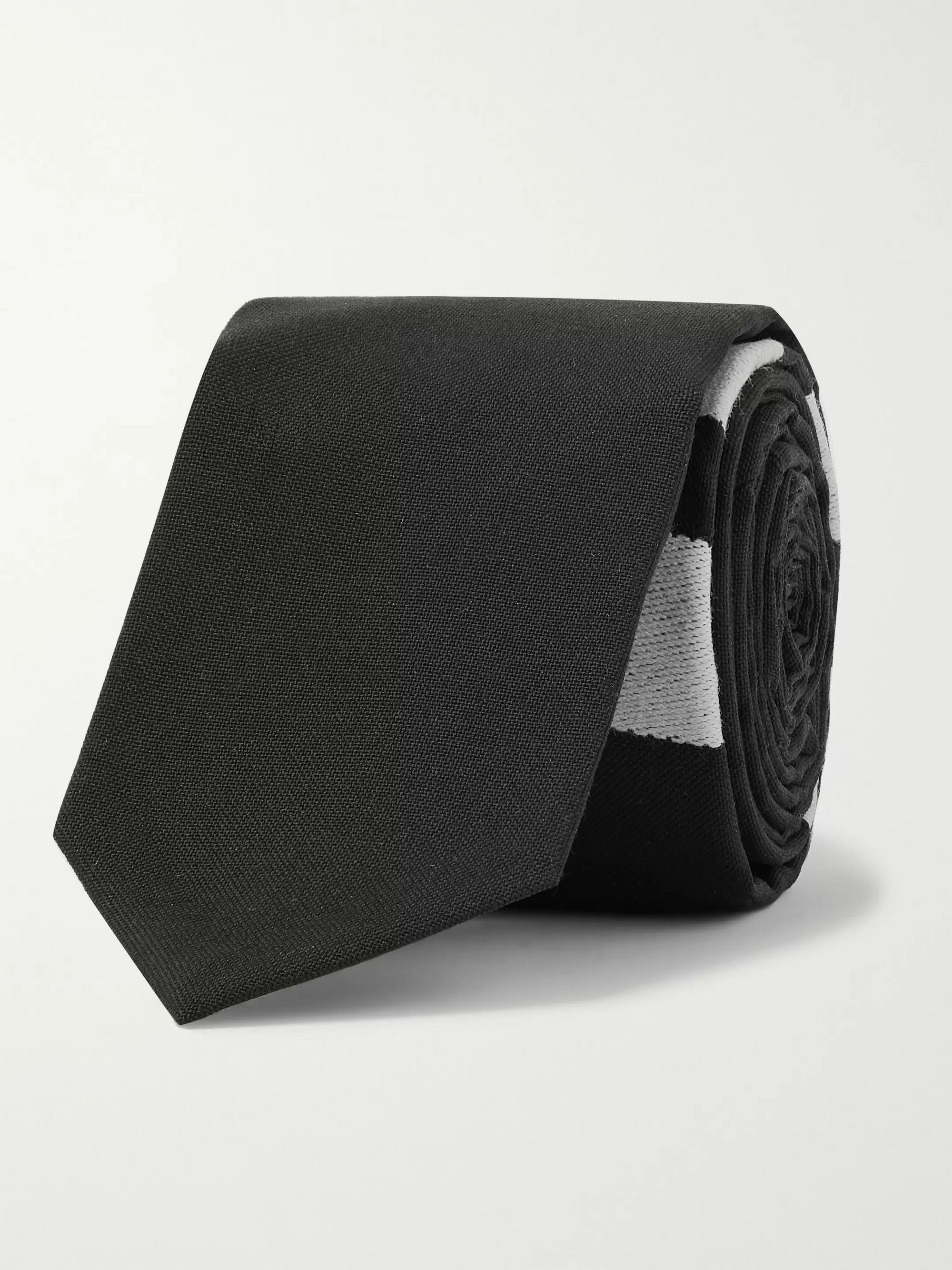 Thom Browne 5cm Striped Wool Tie