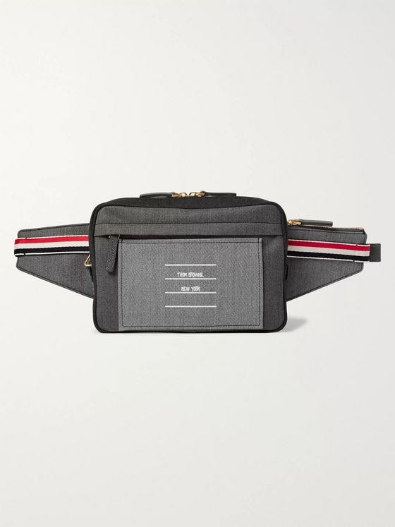 Thom Browne Fun Mix Logo-Print Cotton-Twill Belt Bag