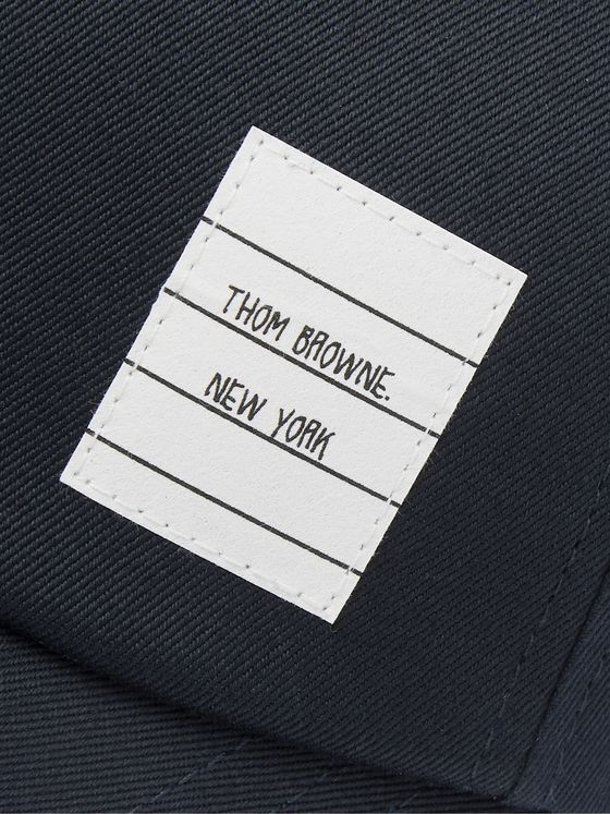 Thom Browne Logo-Appliquéd Cotton-Twill Baseball Cap