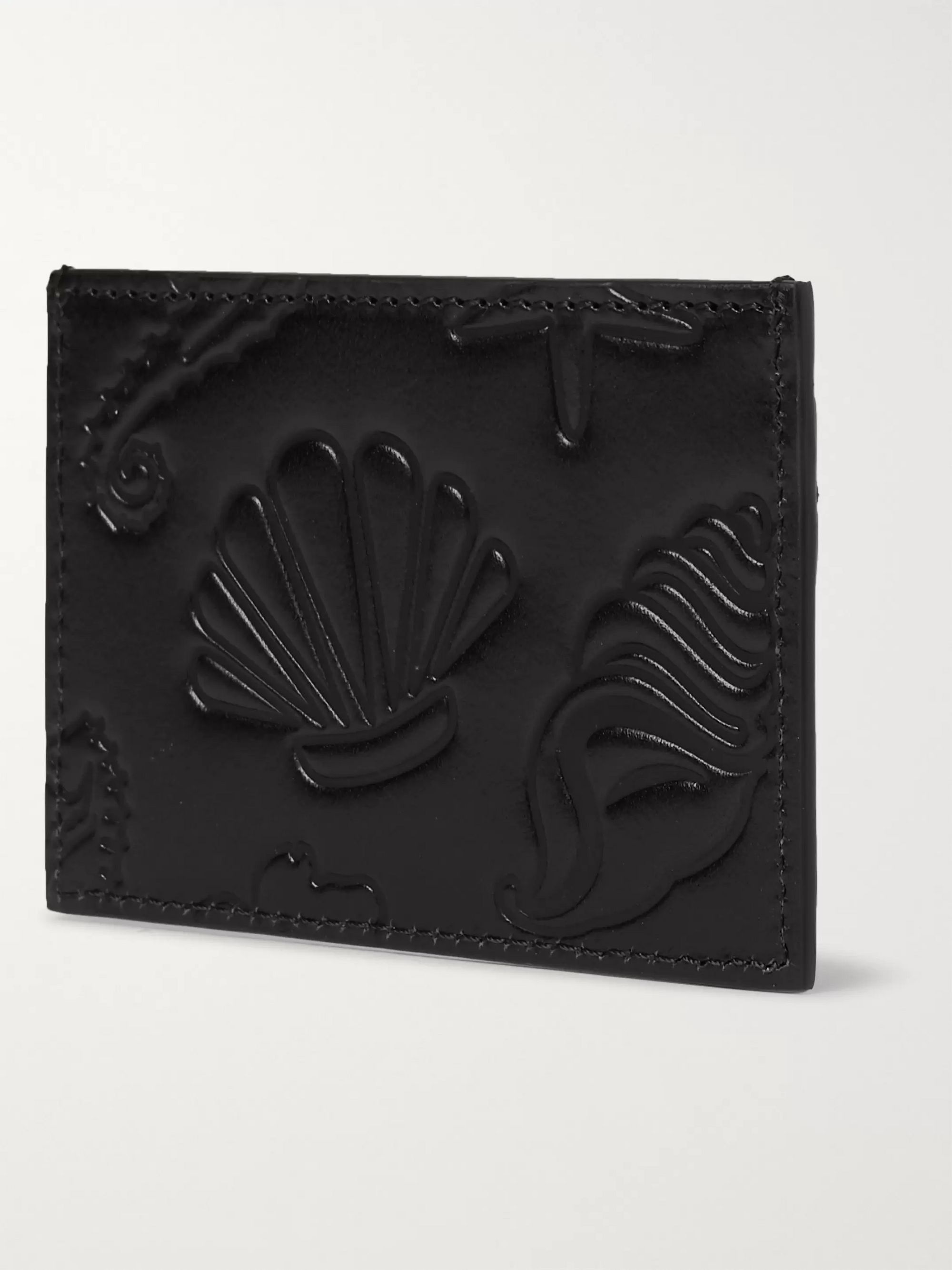 Thom Browne Embossed Leather Cardholder