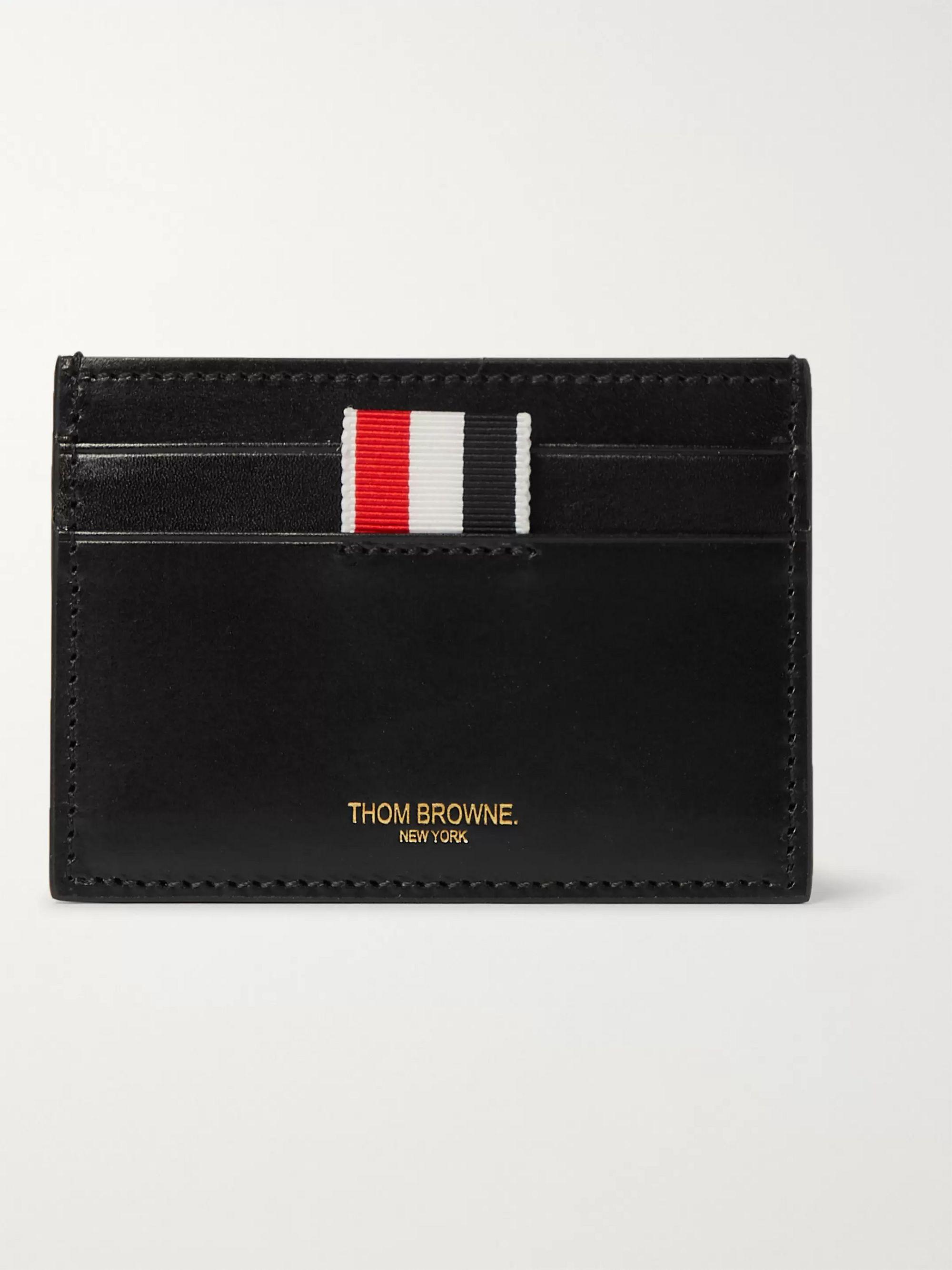 Black Embossed Leather Cardholder | Thom Browne | MR PORTER