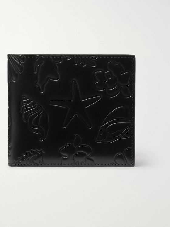 Thom Browne Embossed Leather Billfold Wallet