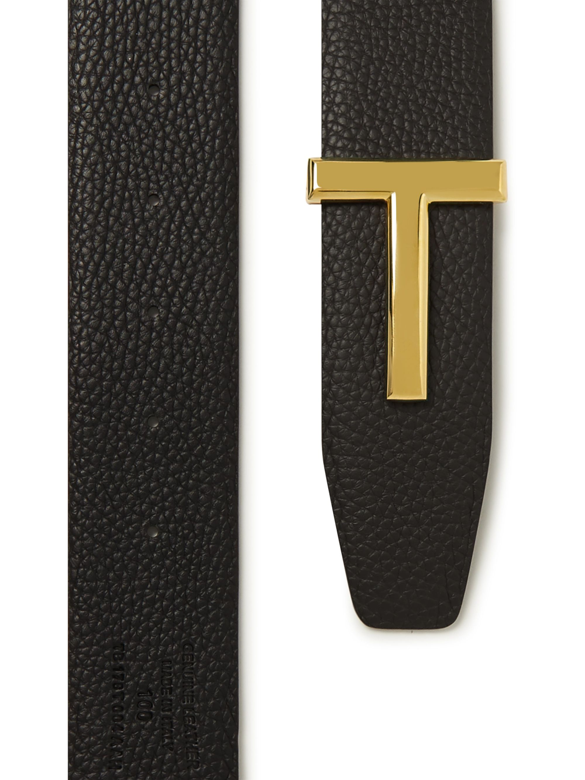 Black 4cm And Dark-brown Reversible Full-grain Leather Belt | Tom Ford
