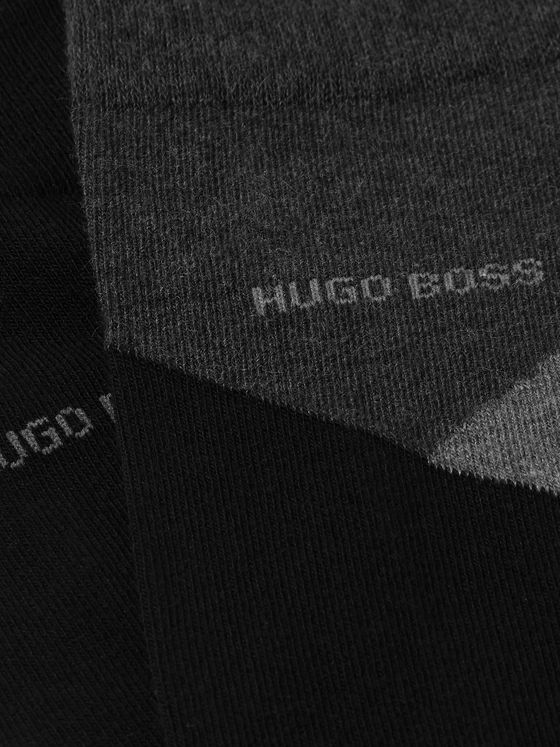 Hugo Boss Two-Pack Stretch Combed Cotton-Blend Socks