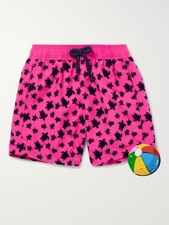 Vilebrequin Boys Ages 2 - 8 Jim Flocked Swim Shorts