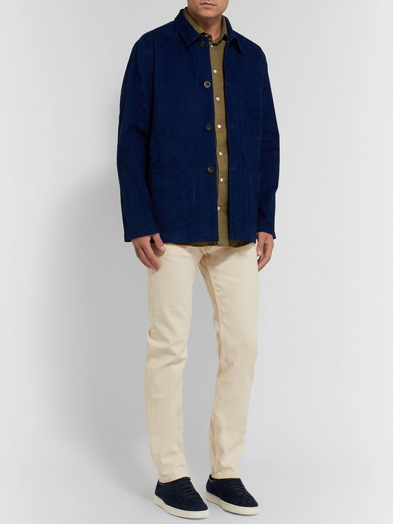 Richard James Slim-Fit Cotton-Flannel Shirt