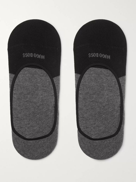Hugo Boss Stretch Cotton-Blend No-Show Socks