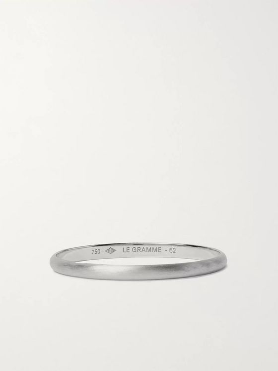 Le Gramme Le 1 Brushed 18-Karat White Gold Ring