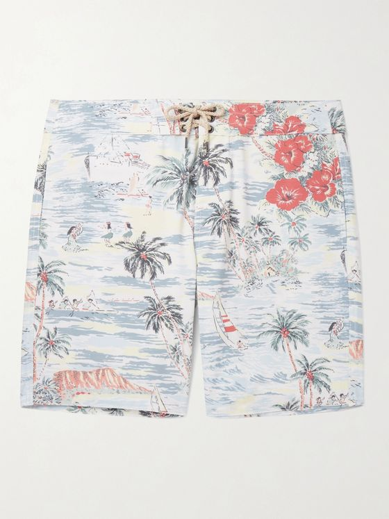 Faherty Long-Length Printed Swim Shorts