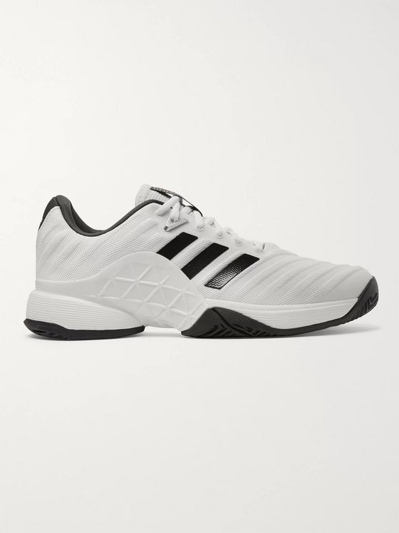 Adidas Sport Barricade 2018 Rubber-Trimmed FORGEDMESH Tennis Sneakers