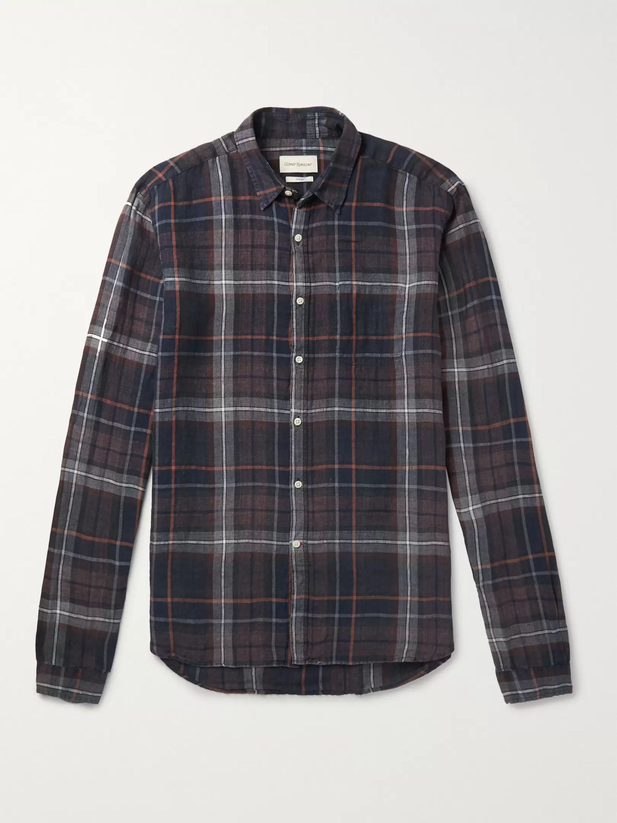 Oliver Spencer New York Special Checked Linen Shirt