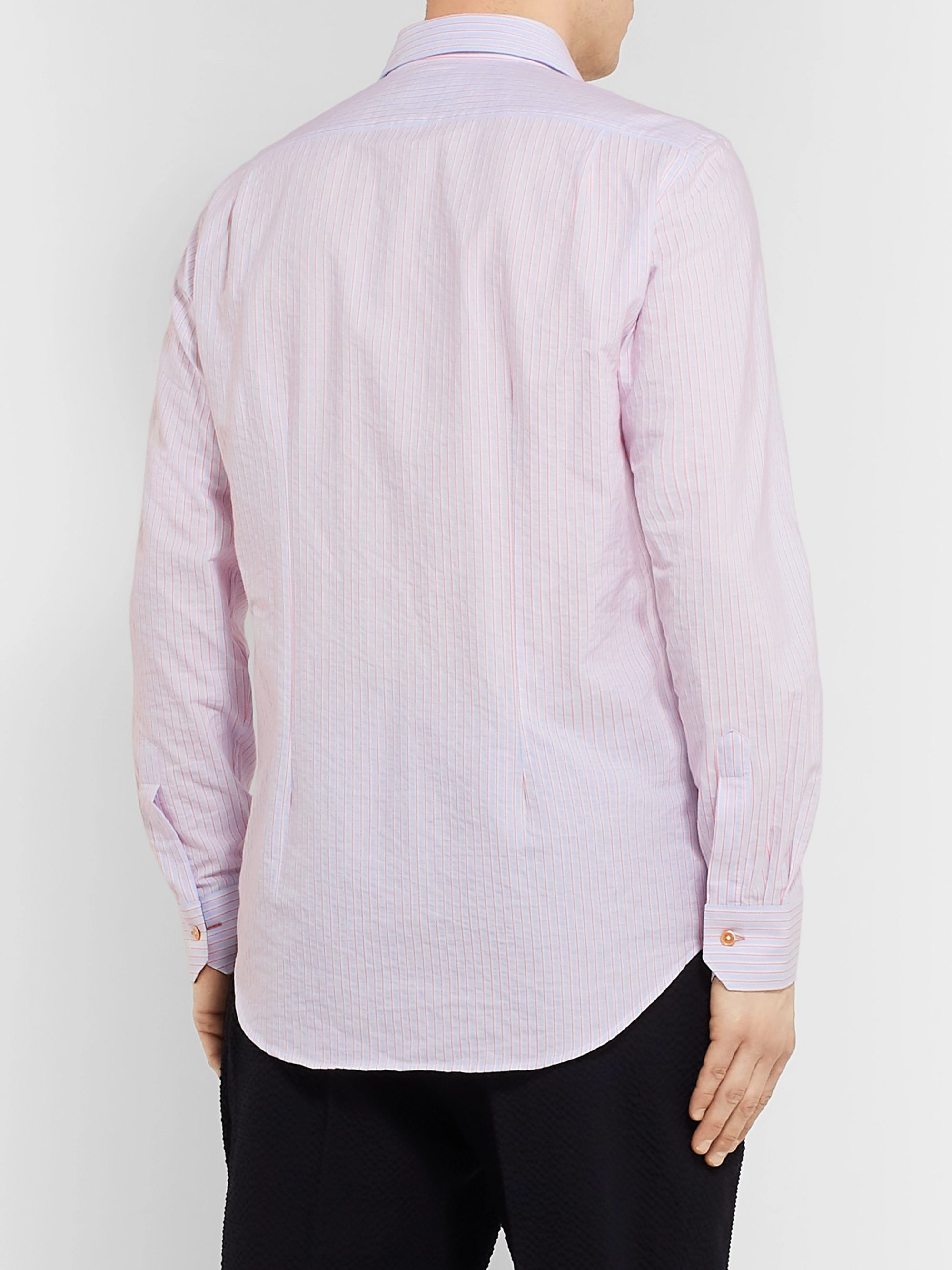 Paul Smith Soho Slim-Fit Striped Cotton-Poplin Shirt