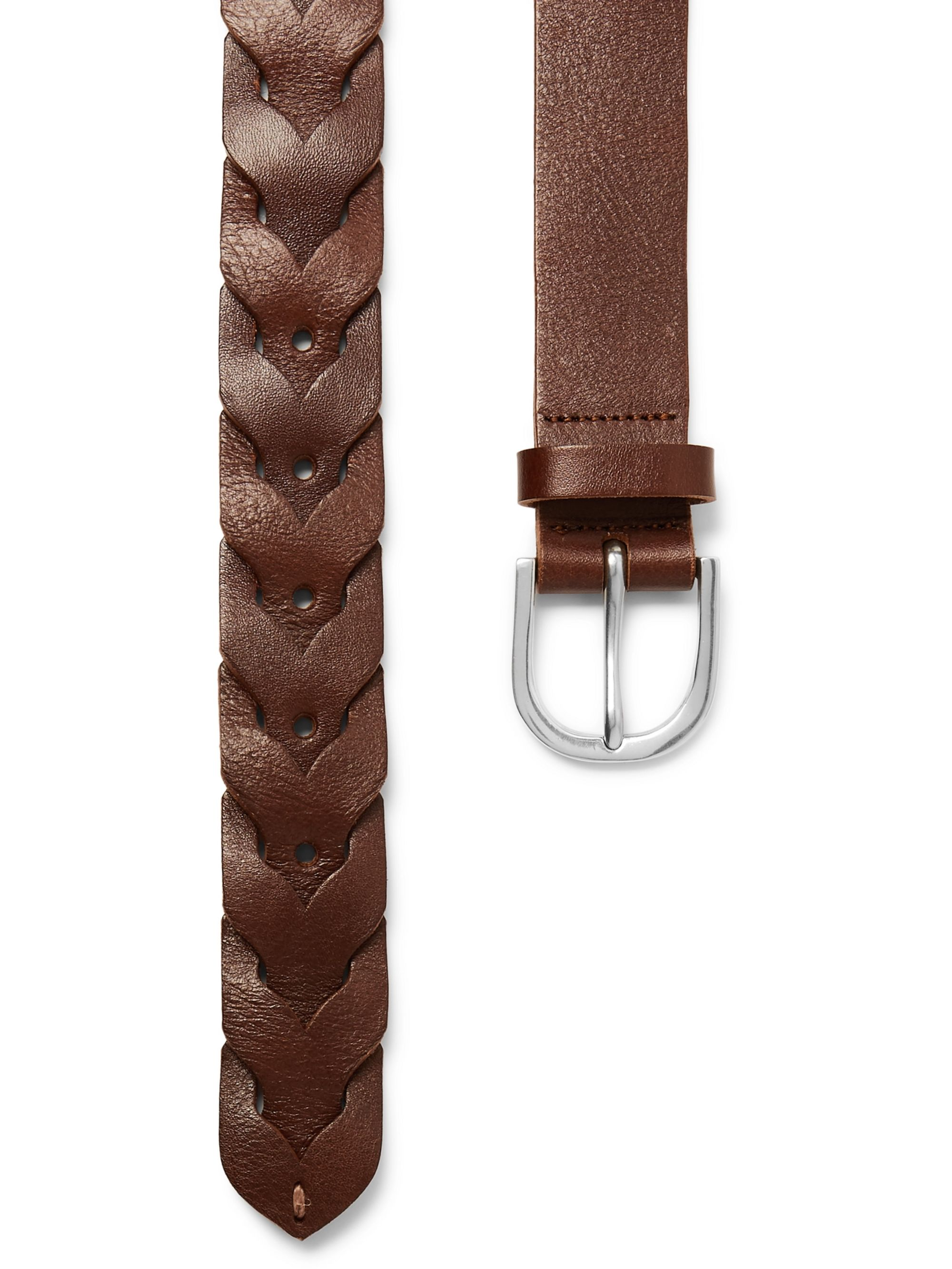 Paul Smith 3cm Brown Woven Leather Belt