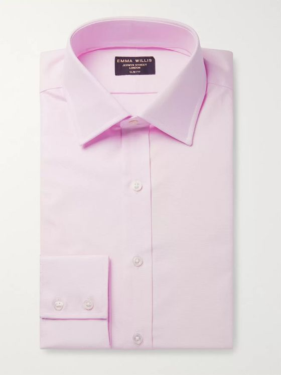 Emma Willis Pink Slim-Fit Cotton Oxford Shirt