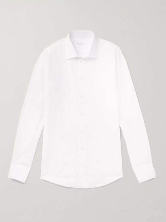 Richard James Slim-Fit Cotton and Linen-Blend Shirt