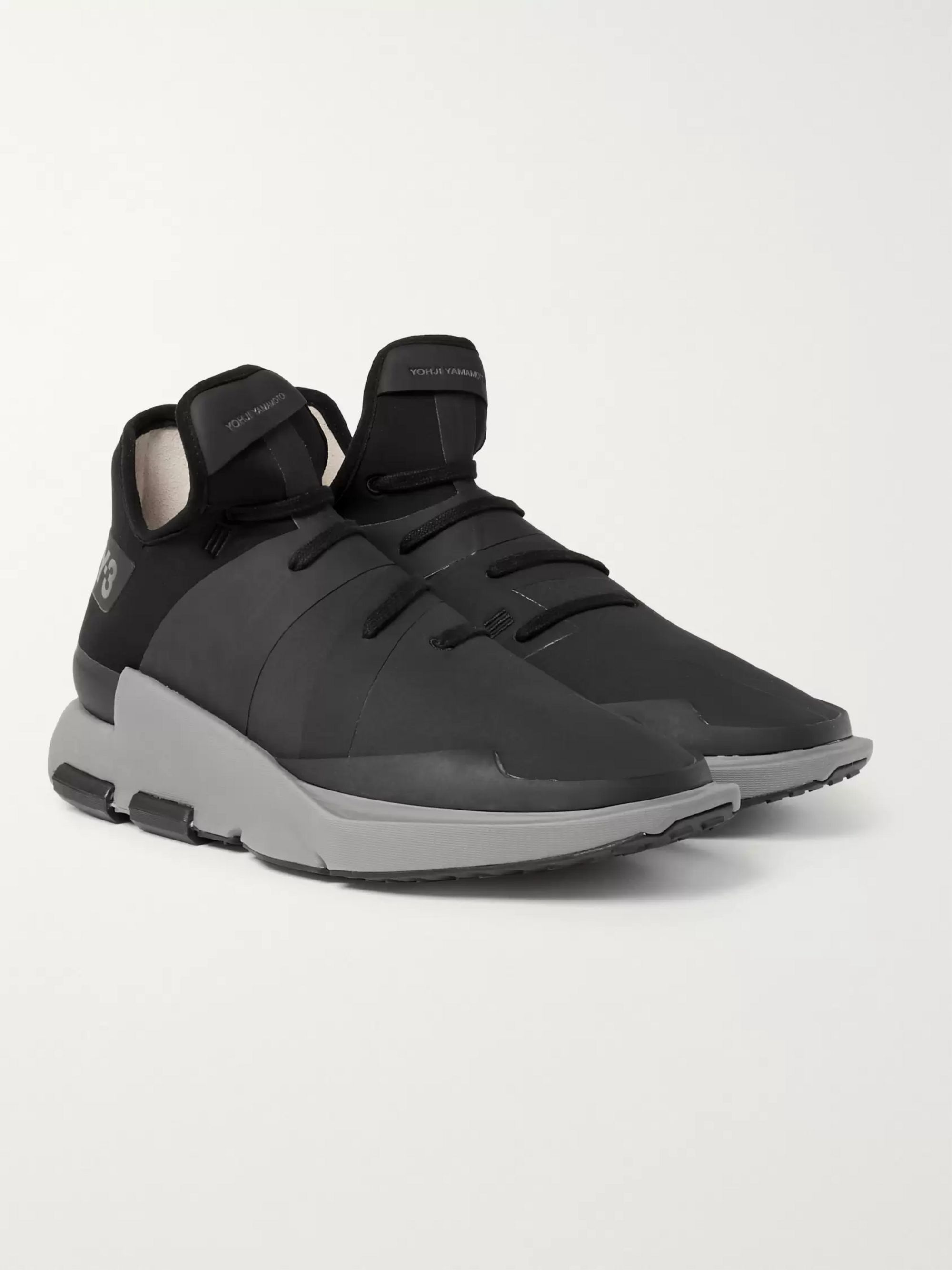 Y-3 Noci Rubberised-Neoprene Sneakers