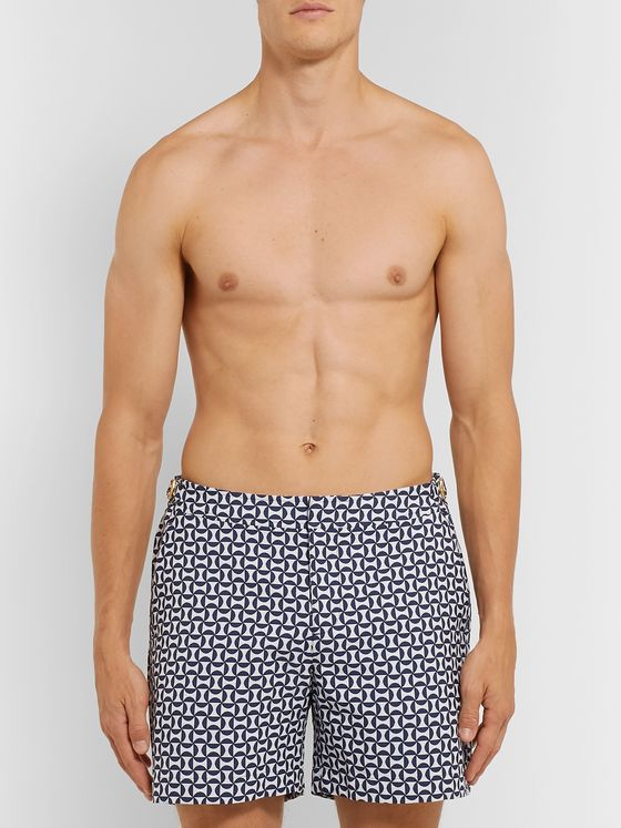 Orlebar Brown Bulldog X Mid-Length Printed Swim Shorts