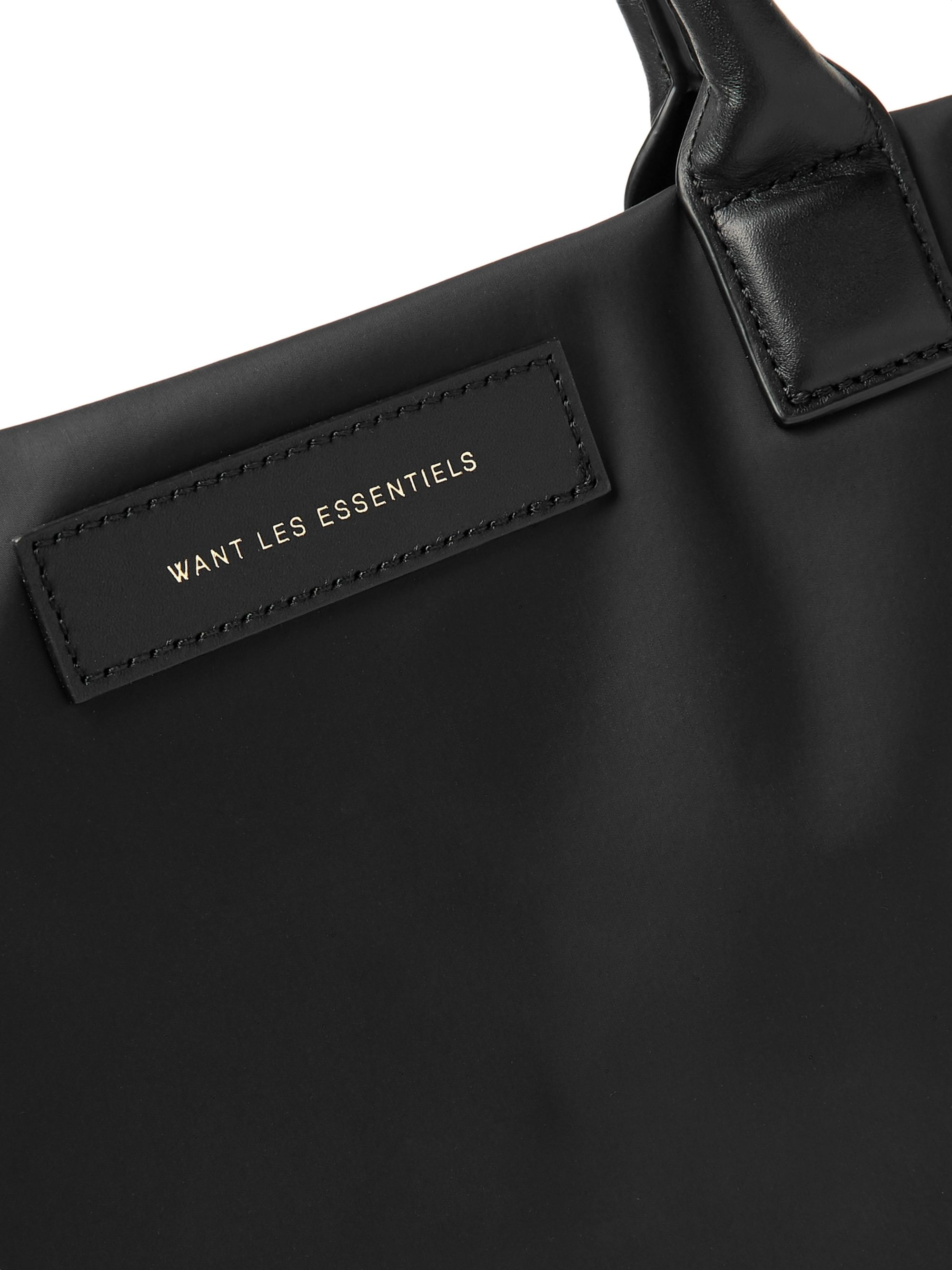 WANT LES ESSENTIELS O'Hare Leather-Trimmed Nylon Tote Bag