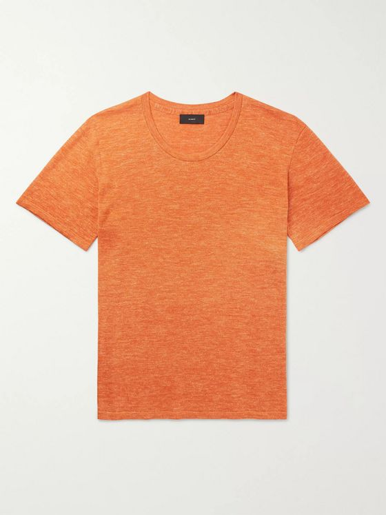 Alanui Mélange Wool, Silk and Linen-Blend T-Shirt