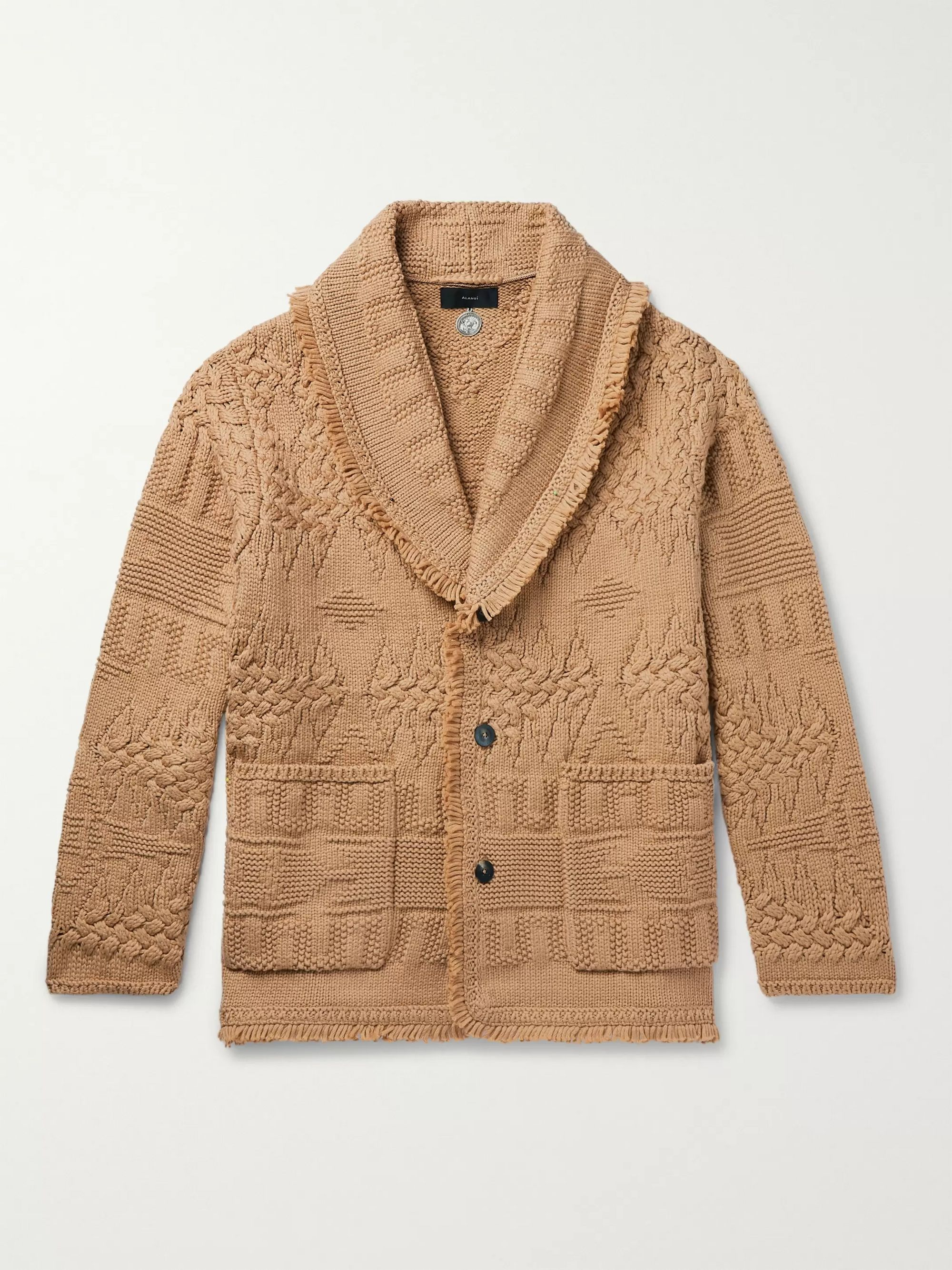Alanui Fringed Cotton-Blend Cardigan