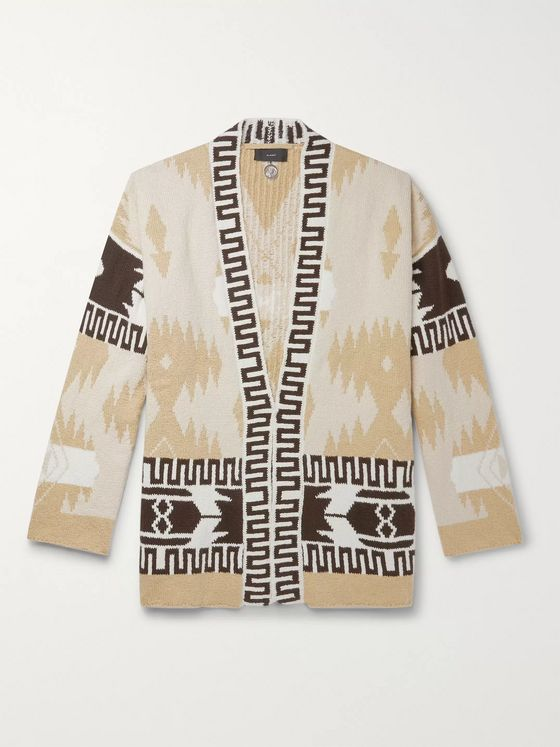 Alanui Icon Cotton-Jacquard Cardigan