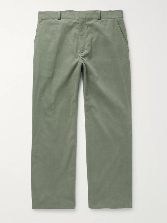 Alanui Slim-Fit Cotton-Corduroy Trousers