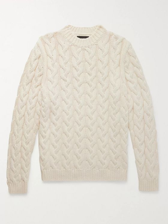 Alanui Cable-Knit Cotton-Blend Sweater