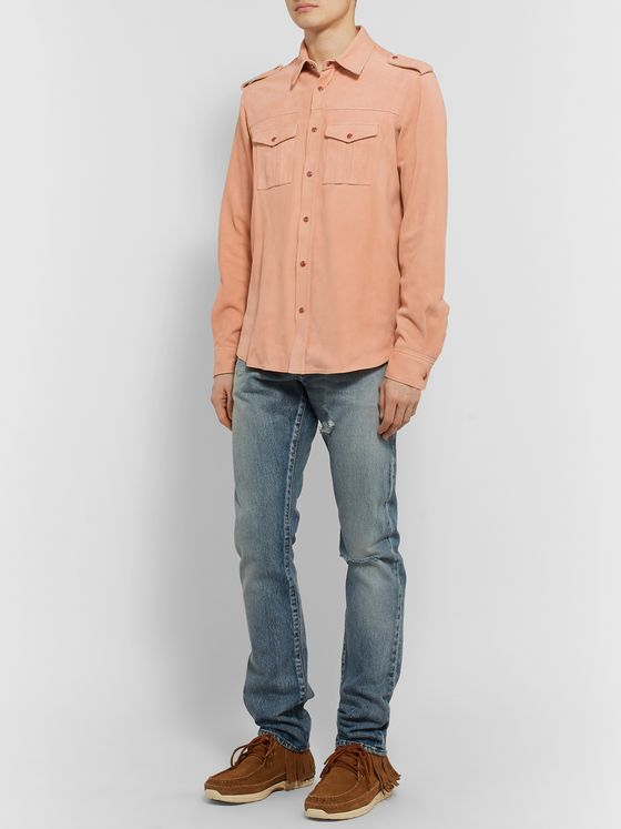 Alanui Slim-Fit Suede Shirt