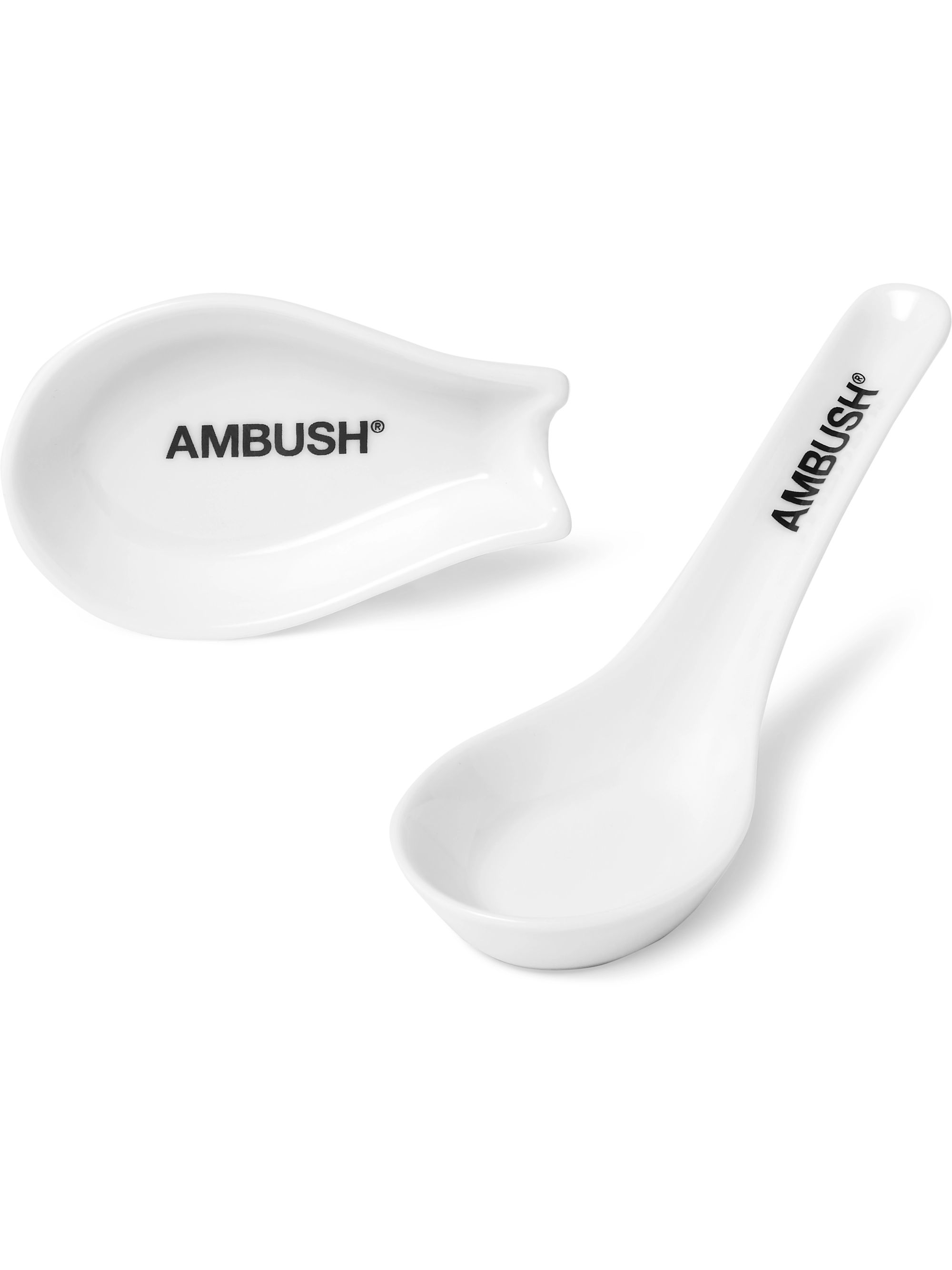 AMBUSH® Logo-Print Ceramic Udon Spoon Set