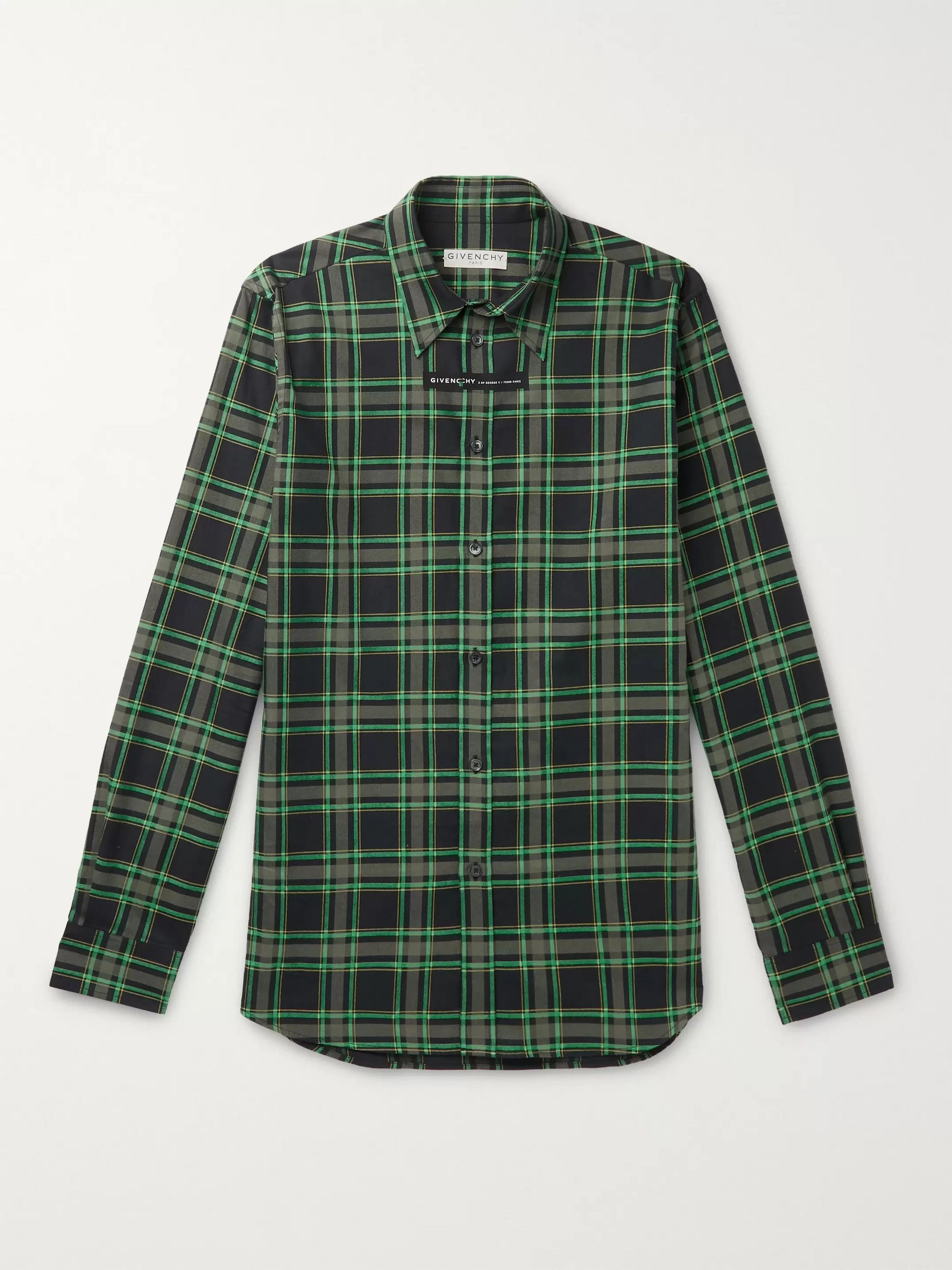 Givenchy Slim-Fit Checked Cotton-Flannel Shirt