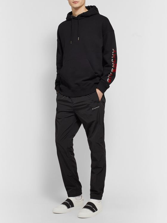 Givenchy Flocked Loopback Cotton-Jersey Hoodie