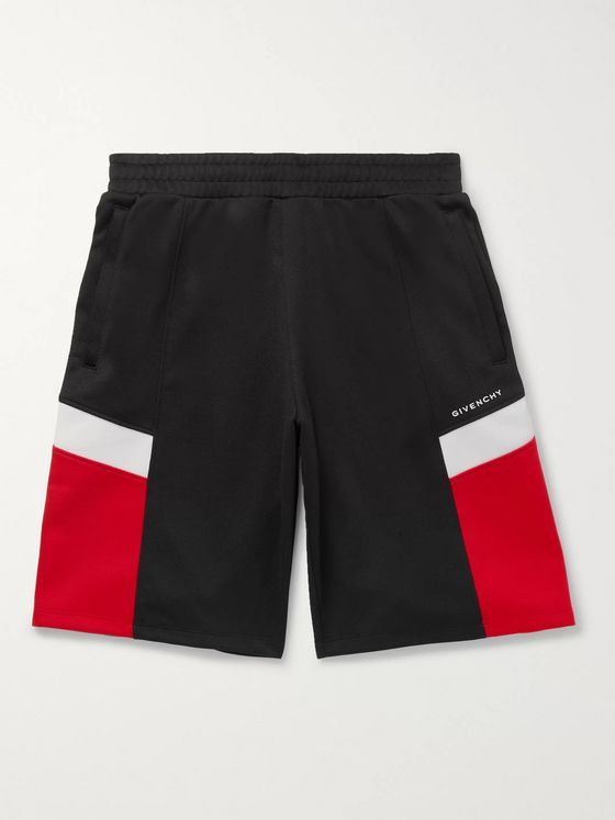 Givenchy Colour-Block Tech-Jersey Shorts